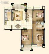 新榕金城华府3室2厅2卫111平方米户型图