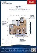 碧桂园十里银滩2室2厅2卫102--103平方米户型图