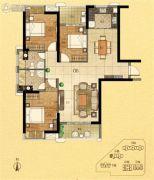 金紫世家3室2厅2卫132平方米户型图