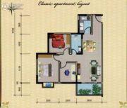 汇联海湾明珠3室2厅1卫91平方米户型图