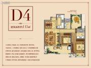 正荣华府3室2厅2卫115平方米户型图