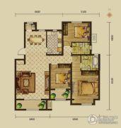 建邦原香溪谷3室2厅2卫138平方米户型图