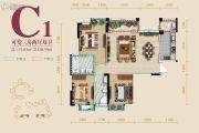 蜀镇3室2厅2卫115平方米户型图