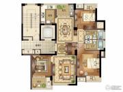 宝盈茗泓苑3室2厅2卫119平方米户型图