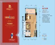 凯旋名门1室1厅1卫44平方米户型图
