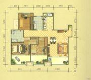 保利华庭3室2厅2卫120平方米户型图