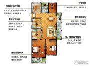 信达银郡3室2厅2卫124平方米户型图