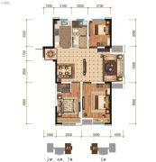 怡馨华庭3室2厅1卫110平方米户型图