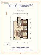碧桂园时代城2室2厅1卫0平方米户型图