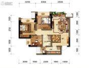 招商中央华城3室2厅1卫81平方米户型图