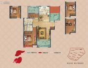 弘阳上湖3室2厅2卫98平方米户型图