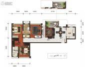 乐古浪成都3室2厅1卫115平方米户型图
