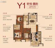 弘阳昕悦府3室2厅2卫90平方米户型图