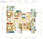 华联城3室2厅2卫108平方米户型图