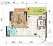 华侨假日中心1室1厅1卫41平方米户型图