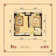 红龙湾1室1厅1卫51平方米户型图
