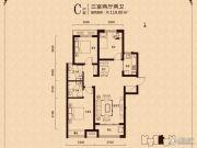 天下锦程花苑3室2厅2卫119平方米户型图