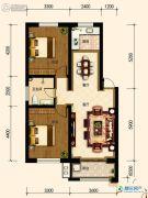 古御壹号2室21厅1卫90平方米户型图
