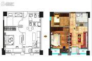 中润88号1室1厅1卫57平方米户型图