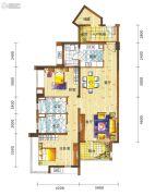新鸿基悦城2室2厅2卫110平方米户型图