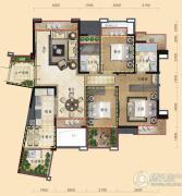 三利云锦3室2厅2卫108平方米户型图
