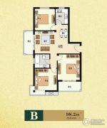 云海观澜3室2厅1卫98平方米户型图