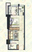宁德大润发国际广场1室2厅1卫37平方米户型图