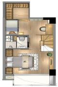 星纪元1室1厅1卫47平方米户型图
