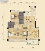 香岸华府二期3室2厅2卫131平方米户型图