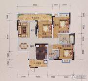 黔龙1号3室2厅2卫126平方米户型图
