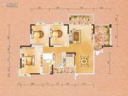 天水豪廷3室2厅2卫129平方米户型图