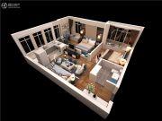 泰华・金汇时代2室2厅1卫72平方米户型图