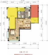 林海溪谷3室1厅1卫0平方米户型图