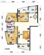 岭秀新城3室2厅2卫144平方米户型图