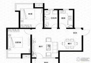 亿科公元20102室2厅1卫99平方米户型图