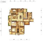 富力十号5室2厅2卫170平方米户型图