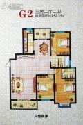 泰盈紫金城3室2厅2卫0平方米户型图