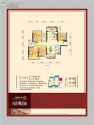 龙光普罗旺斯3室2厅2卫110平方米户型图