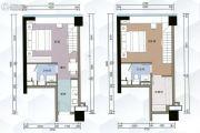 G1蜂汇2室1厅2卫43平方米户型图