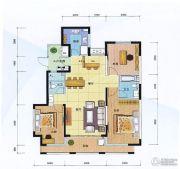 阳光100国际新城3室2厅2卫125平方米户型图