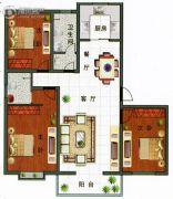 帝景苑3室2厅2卫0平方米户型图