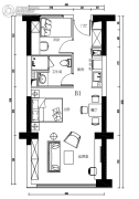 金融街・巽寮湾2室1厅1卫0平方米户型图