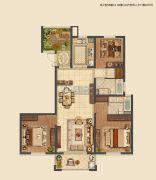 信拓东港国际3室2厅2卫140--143平方米户型图