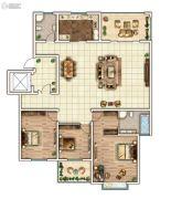 云顶蓝山3室2厅2卫190平方米户型图