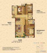 中海锦��湾3室2厅2卫116平方米户型图