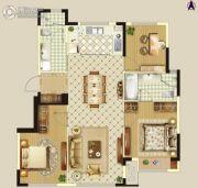 万科新都会3室2厅1卫95平方米户型图