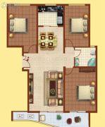 富华棕榈城3室2厅1卫0平方米户型图