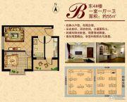 盛瑞华庭1室1厅1卫55平方米户型图