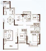 恒大滨河左岸4室2厅2卫141平方米户型图