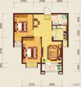 保利达翠堤湾二期2室2厅1卫0平方米户型图